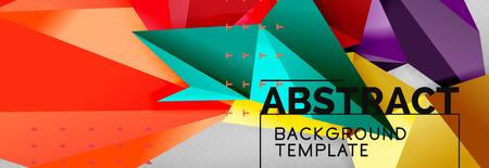 Triangles background techno template