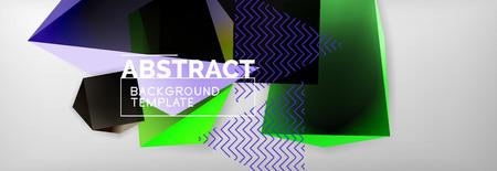 Minimalistic geometric abstract background