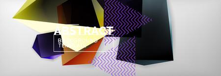 Minimalistic geometric abstract background Vector Illustratie