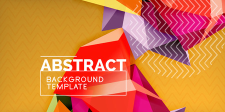 Low poly design 3d triangular shape background, mosaic abstract design template, vector illustration Illustration