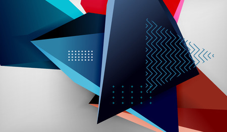 Abstract color triangles geometric background. Mosaic triangular low poly style