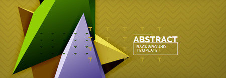 Abstract background, colorful minimal abstract triangle composition. Vector illustration, modern 3d triangular poster
