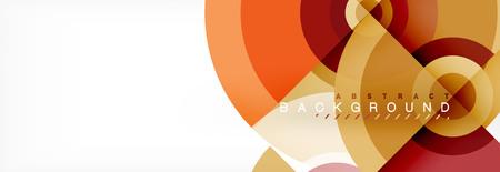 Modern circle background, vector illustration Illusztráció