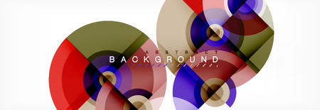 Round shapes vector abstract background. Trendy circle shapes composition vector illustration Banque d'images - 125326339