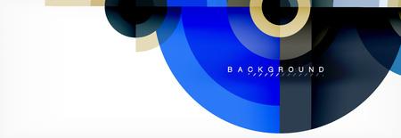 Geometric circle abstract background, creative geometric wallpaper, vector illustration 向量圖像
