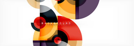 Circle abstract background with triangular shapes for modern design, cover, template, brochure, flyer. Vector Illustration