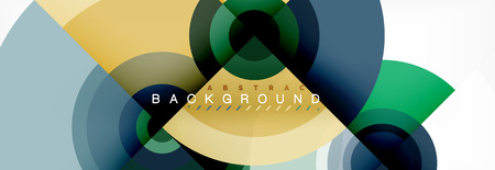 Abstract background circle design vector