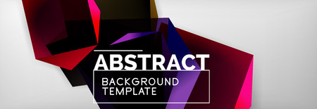 Geometric abstract background with color dark 3d shapes, vector modern business or techno poster design Stock Illustratie