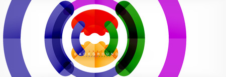 Arrière-plan de conception de lignes circulaires, cercle de vecteur
