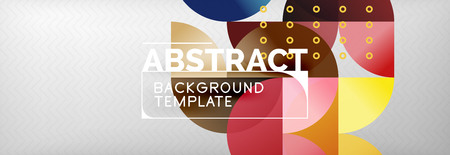 Circles and semicircles abstract background, circle design business template. Vector illustration
