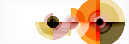 Circle abstract background with triangular shapes for modern design, cover, template, brochure, flyer. Vector Ilustrace