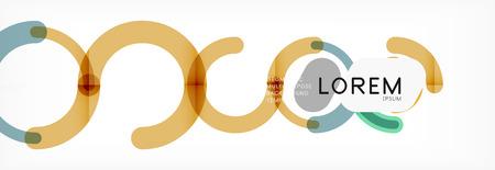 Linear design circle background Banque d'images - 116995622