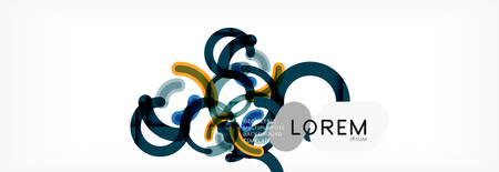 Modern geometrical abstract background design