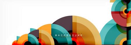 Abstract background circle design Ilustração
