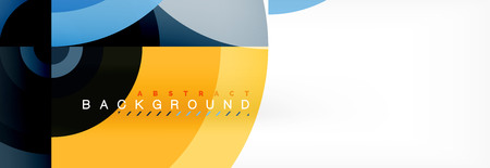 Circle geometric composition abstract background design, cover, template, brochure, flyer.