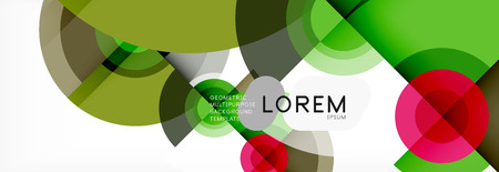 Circular vector abstract background, geometric style Ilustracja