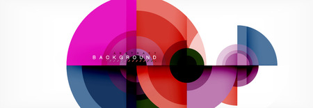 Round shapes vector abstract background. Trendy circle shapes composition vector illustration