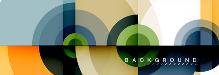 Modern circle background