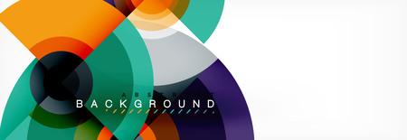 Modern circle background, vector illustration 向量圖像