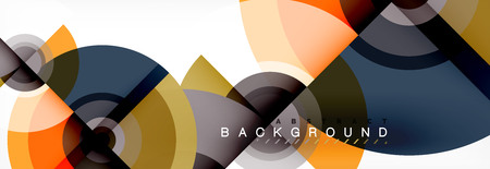 Modern circle background, vector illustration Ilustração