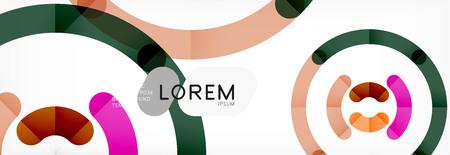 Circular lines design background