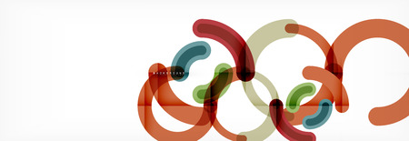 Line design circles abstract background, vector illustration Illustration