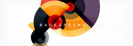 Circle abstract background with triangular shapes for modern design, cover, template, brochure, flyer.
