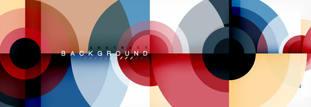 Modern circle background, vector illustration Ilustração