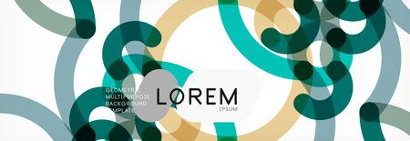 Abstract color lines on white. Modern colorful flow poster wave. Art design for your project. Vector illustration Ilustração
