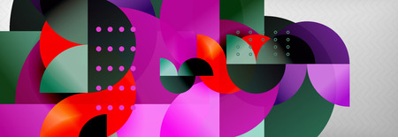 Circle background abstract. Trendy shapes composition. Vector illustration