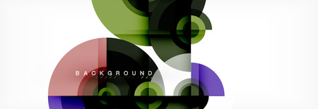 Circular vector abstract background, geometric style Ilustrace