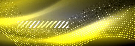Glowing abstract wave on dark, shiny motion, Christmas and New Year magic space light. Vector techno abstract background Banque d'images - 124982364