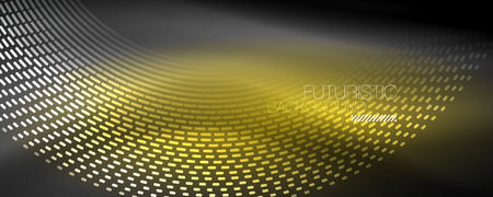 Digital flowing wave particles abstract background, vector smoke effect design. Vector illustration