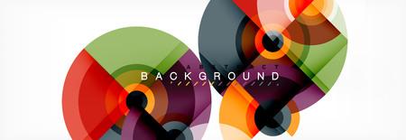 Vector circle composition, geometric minimal design illustration. Abstract background Banco de Imagens - 124943544