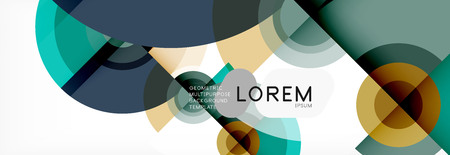 Vector circle composition, geometric minimal design illustration. Abstract background