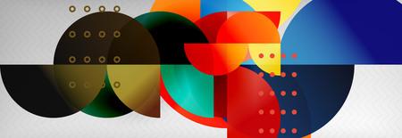 Semi cicrle geometric backgrounds on grey, modern geometric pattern design. Vector business or technology presentation design template, brochure or flyer pattern, or geometric web banner Reklamní fotografie - 124875481