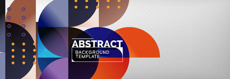 Circles and semicircles abstract background, circle design business template. Vector illustration Reklamní fotografie - 124875483