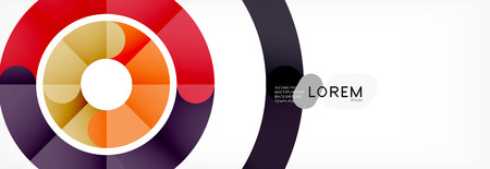 Line design circles abstract background, vector illustration Illustration