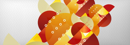 Circles and semicircles abstract background, circle design business template. Vector illustration Reklamní fotografie - 124875990
