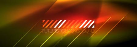 Abstract neon glowing light background. Dark background with lights. Abstract background with neon lights, night view. Vector 写真素材 - 124876101