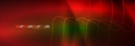 Shiny neon lights background, techno design, modern wallpaper for your project, vector illustration Illustration