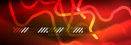 Shiny neon lights background, techno design, modern wallpaper for your project, vector illustration 写真素材 - 124876215