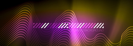 Shiny neon lights background, techno design, modern wallpaper for your project, vector illustration  イラスト・ベクター素材