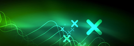 Shiny neon lights background, techno design, modern wallpaper for your project