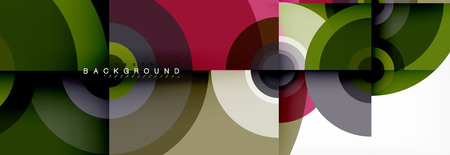 Round shapes vector abstract background. Trendy circle shapes composition vector illustration Foto de archivo - 124805981
