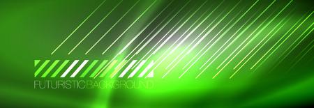 Shiny glowing lights neon color design background, vector Ilustração