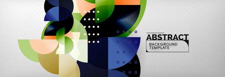 Semi cicrle geometric backgrounds on grey, modern geometric pattern design. Vector business or technology presentation design template, brochure or flyer pattern, or geometric web banner