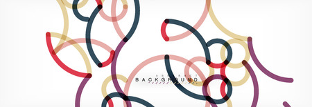 Curly wave lines abstract background design, transparent color lines on gray, vector illustration