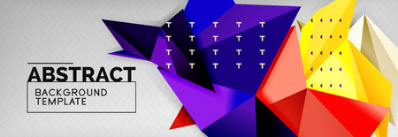 Triangles background techno template