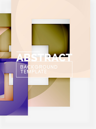 Background abstract squares, geometric minimal template, vector illustration